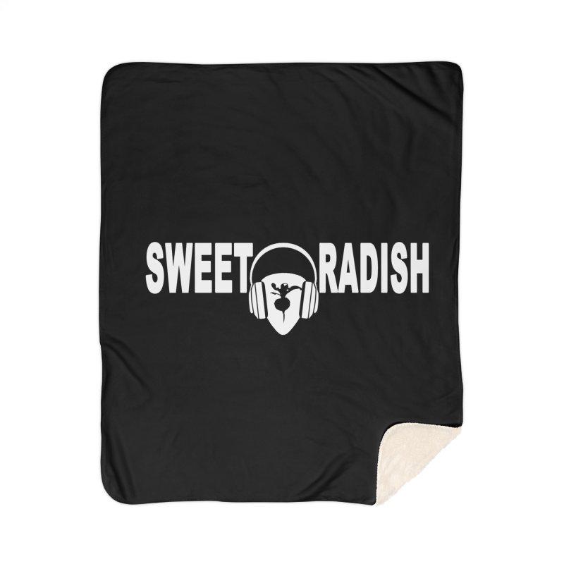 Sweet Radish Headphones Logo Home Blanket by jackrabbithollow's Artist Shop