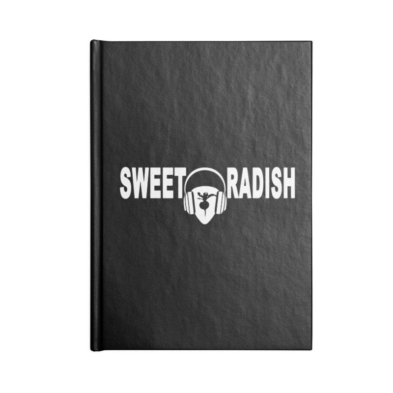 Sweet Radish Headphones Logo Accessories Blank Journal Notebook by jackrabbithollow's Artist Shop