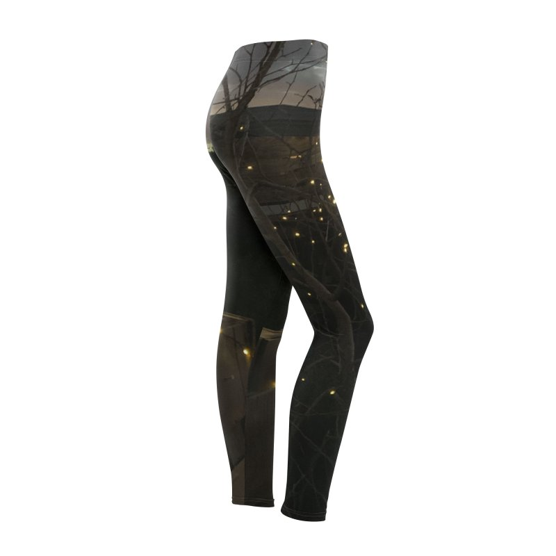 Night Garden Leggings Women's Bottoms by jackrabbithollow's Artist Shop