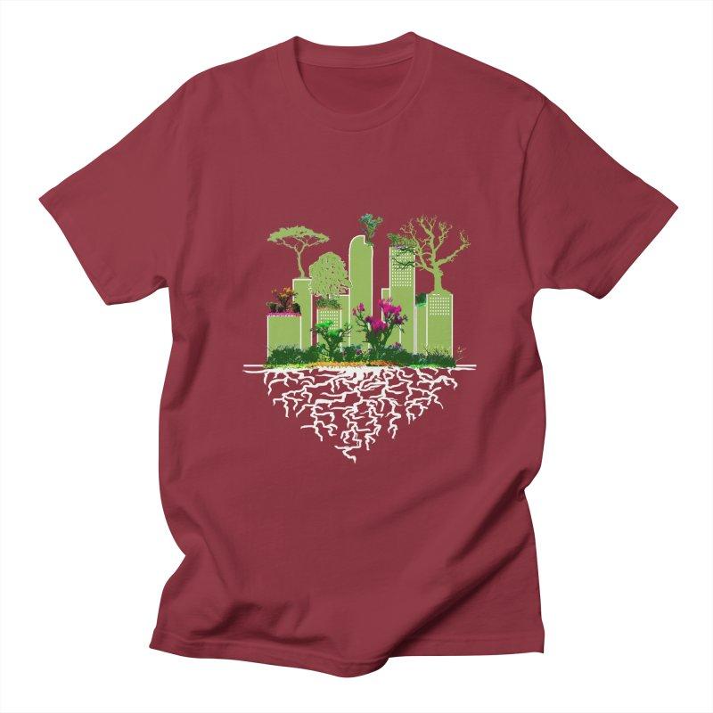 URBAN ROOTS Men's T-Shirt by jackrabbithollow's Artist Shop