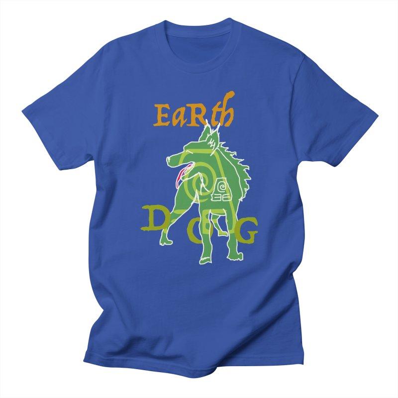 EARTH DOG no border Men's T-Shirt by jackrabbithollow's Artist Shop