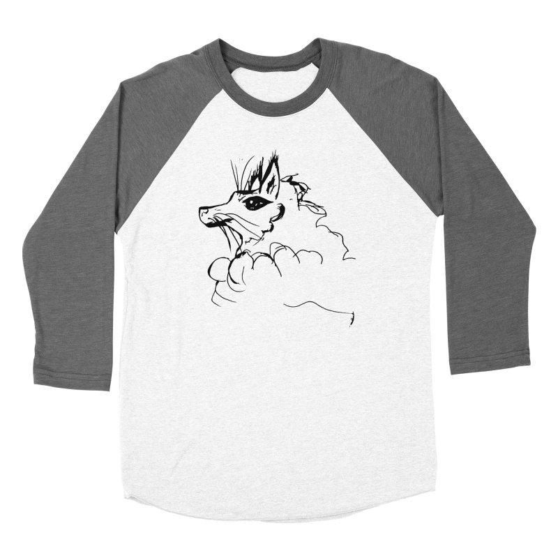 Fox Hound Women's Baseball Triblend Longsleeve T-Shirt by jackrabbithollow's Artist Shop
