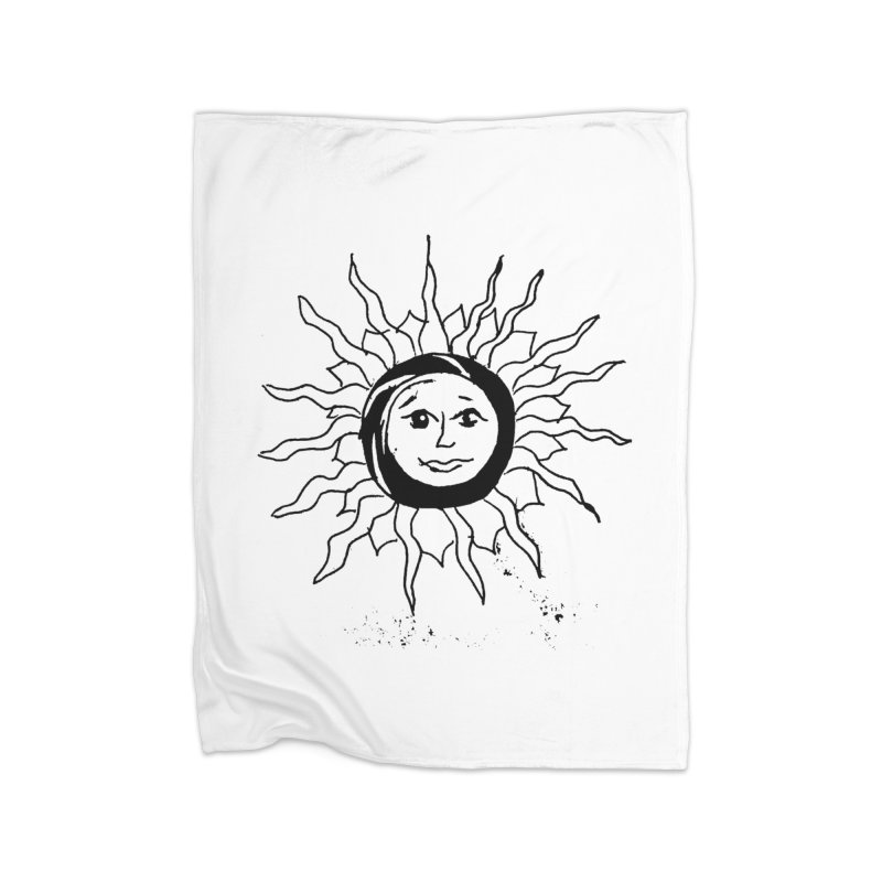 Sun Smile Home Fleece Blanket Blanket by jackrabbithollow's Artist Shop