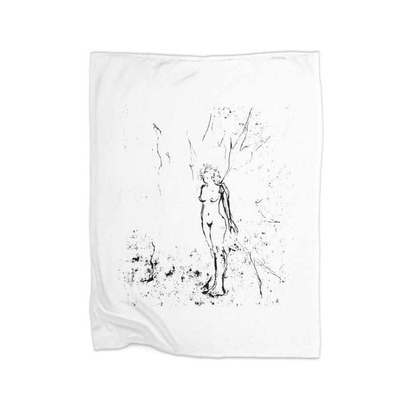 Fairy Wisp Home Fleece Blanket Blanket by jackrabbithollow's Artist Shop