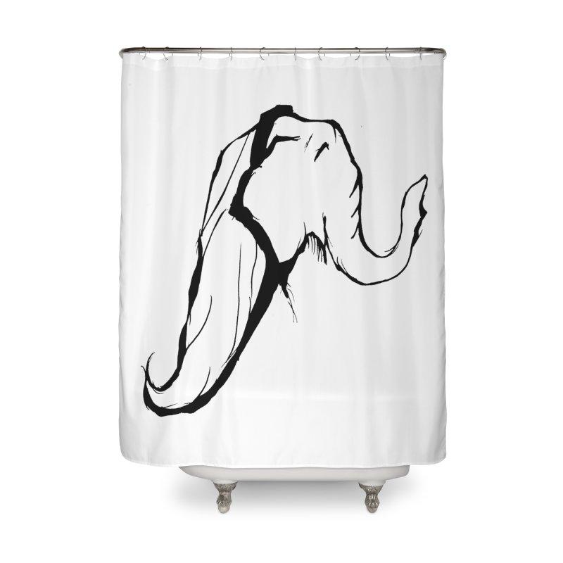 Mother Elephant Home Shower Curtain by jackrabbithollow's Artist Shop