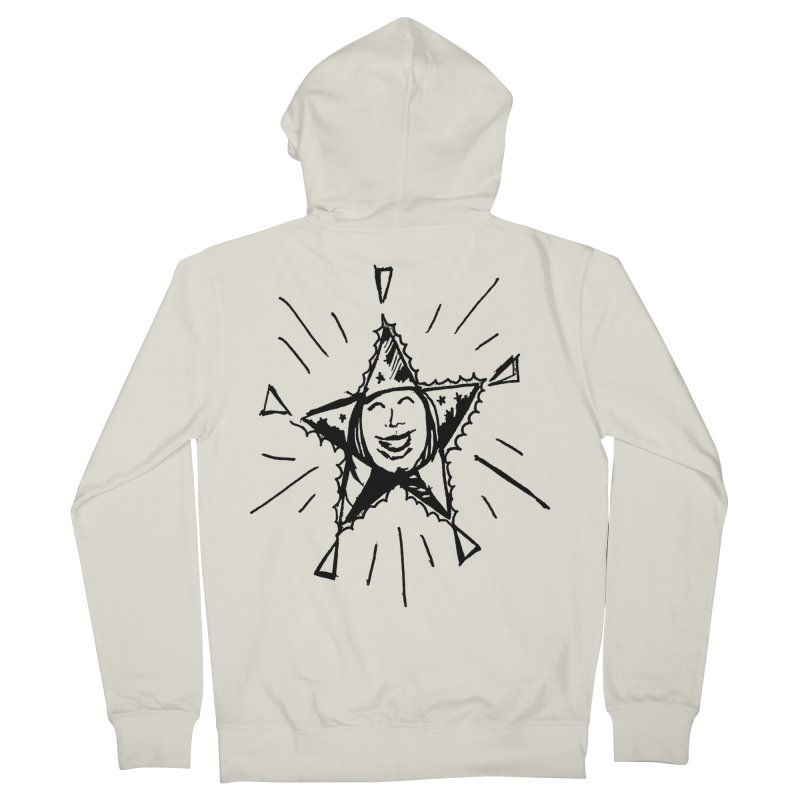 Star Shine Men's French Terry Zip-Up Hoody by jackrabbithollow's Artist Shop