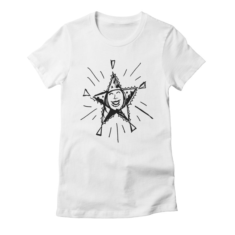 Star Shine Women's Fitted T-Shirt by jackrabbithollow's Artist Shop