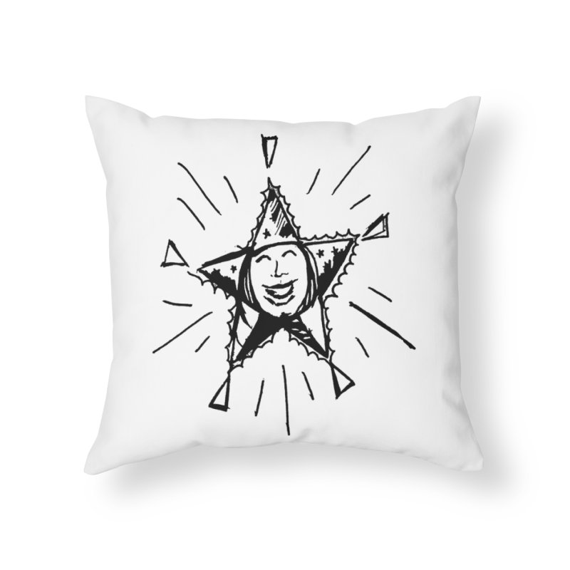 Star Shine Home Throw Pillow by jackrabbithollow's Artist Shop