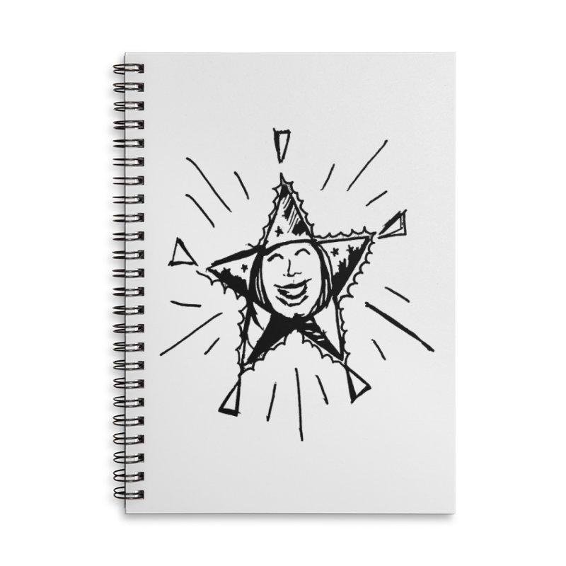 Star Shine Accessories Lined Spiral Notebook by jackrabbithollow's Artist Shop