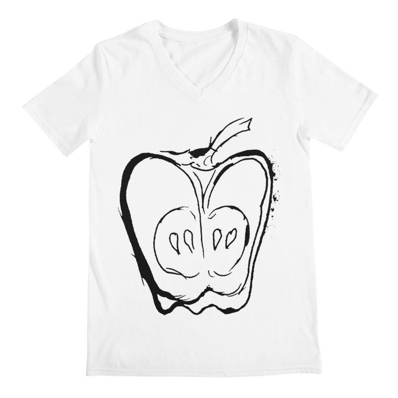 Big Apple Men's Regular V-Neck by jackrabbithollow's Artist Shop