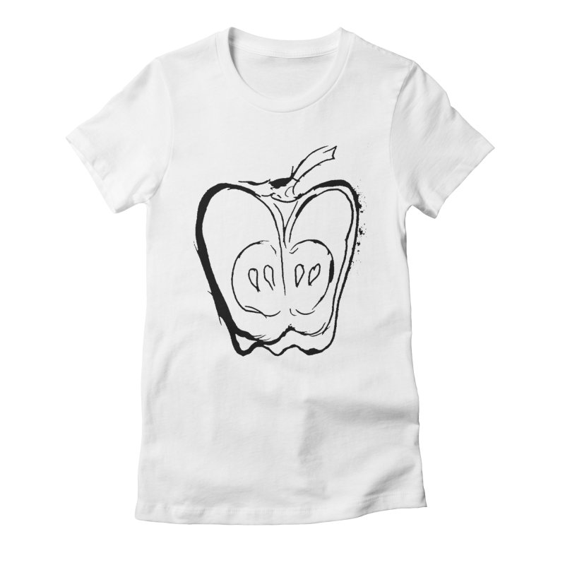 Big Apple Women's Fitted T-Shirt by jackrabbithollow's Artist Shop