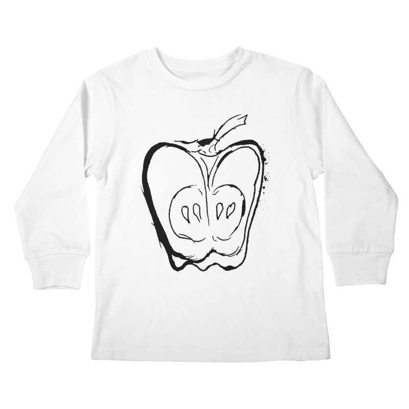 Big Apple Kids Longsleeve T-Shirt by jackrabbithollow's Artist Shop