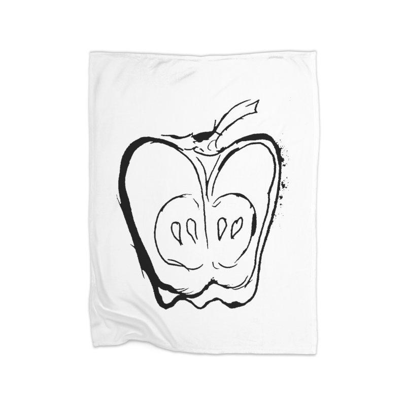 Big Apple Home Fleece Blanket Blanket by jackrabbithollow's Artist Shop
