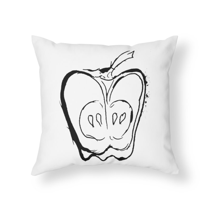 Big Apple Home Throw Pillow by jackrabbithollow's Artist Shop