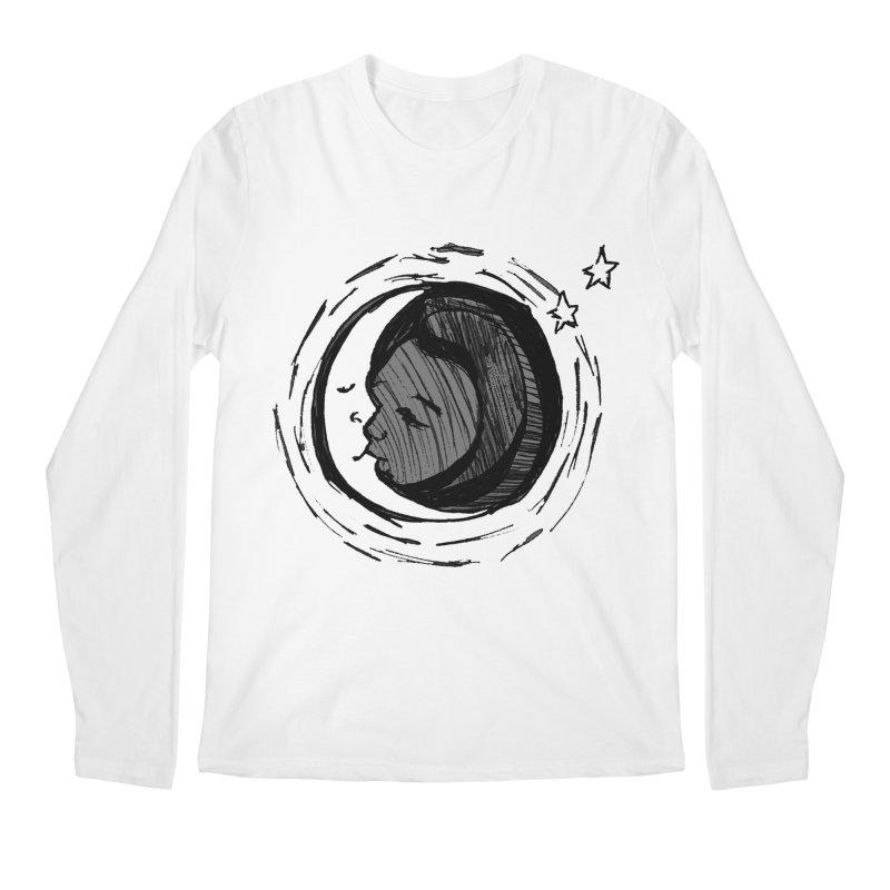 Dark Side of the Moon Men's Longsleeve T-Shirt by jackrabbithollow's Artist Shop