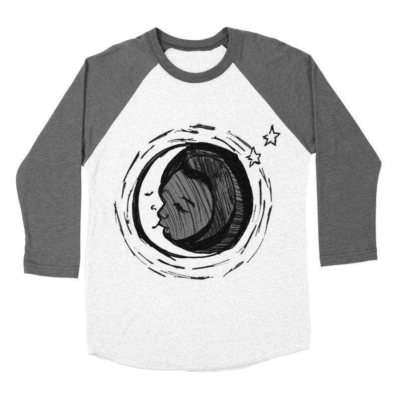 Dark Side of the Moon Women's Baseball Triblend Longsleeve T-Shirt by jackrabbithollow's Artist Shop