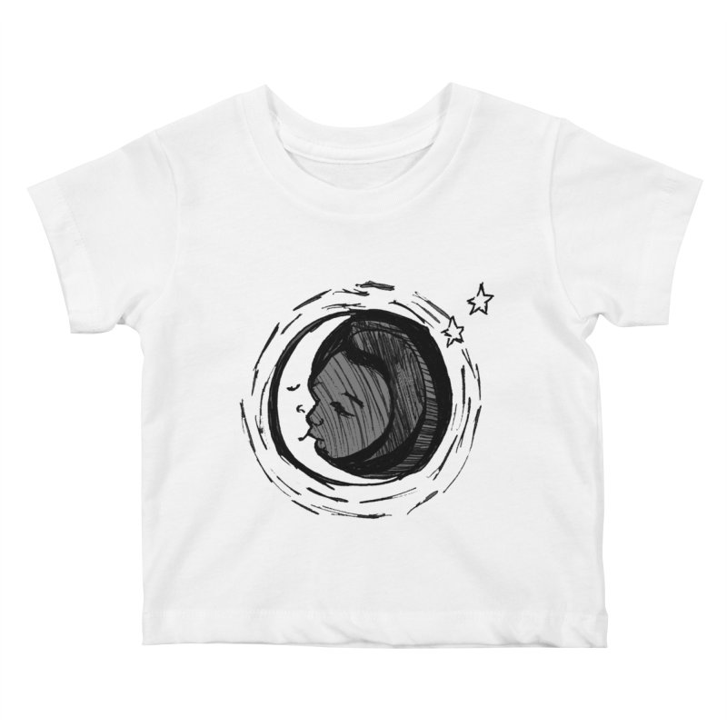 Dark Side of the Moon Kids Baby T-Shirt by jackrabbithollow's Artist Shop
