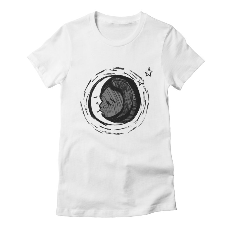 Dark Side of the Moon Women's Fitted T-Shirt by jackrabbithollow's Artist Shop
