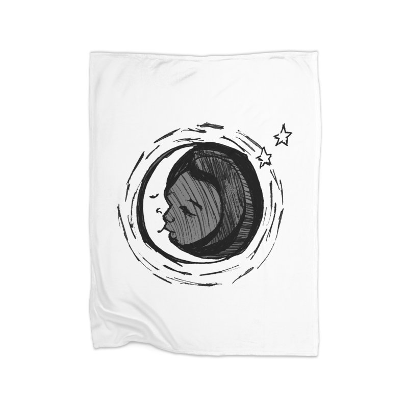 Dark Side of the Moon Home Fleece Blanket Blanket by jackrabbithollow's Artist Shop