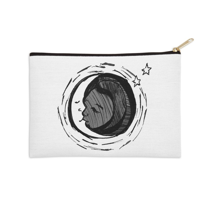 Dark Side of the Moon Accessories Zip Pouch by jackrabbithollow's Artist Shop