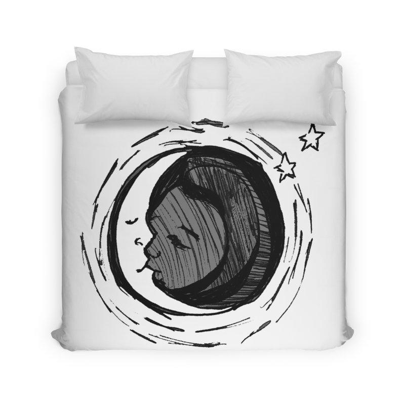Dark Side of the Moon Home Duvet by jackrabbithollow's Artist Shop