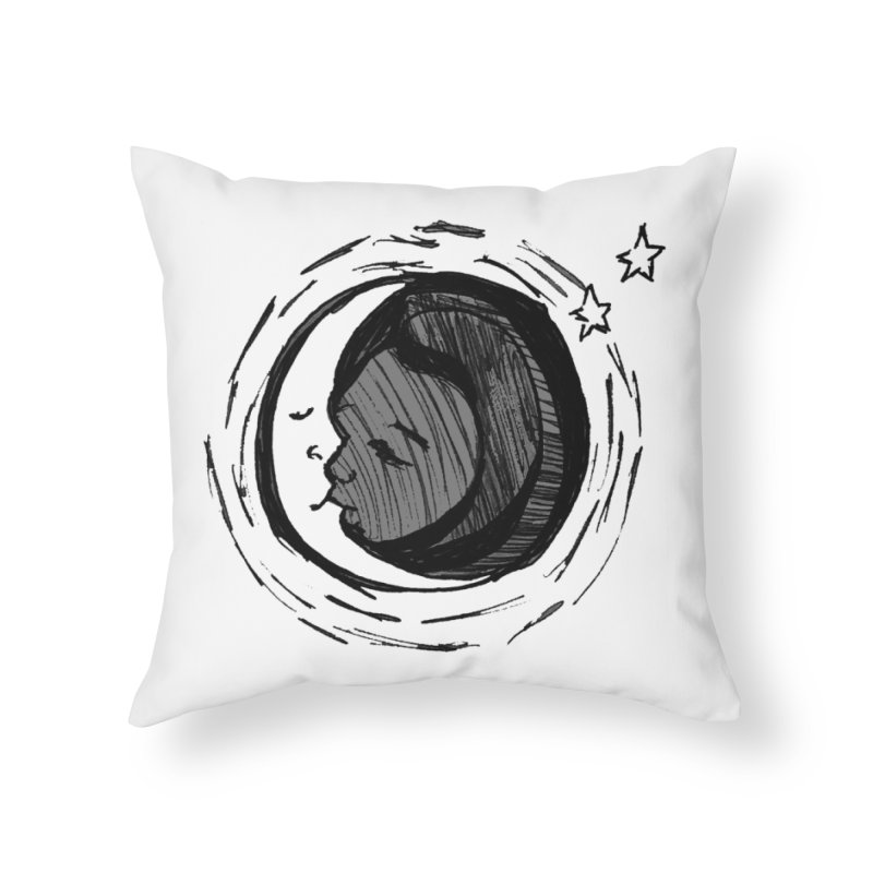 Dark Side of the Moon Home Throw Pillow by jackrabbithollow's Artist Shop