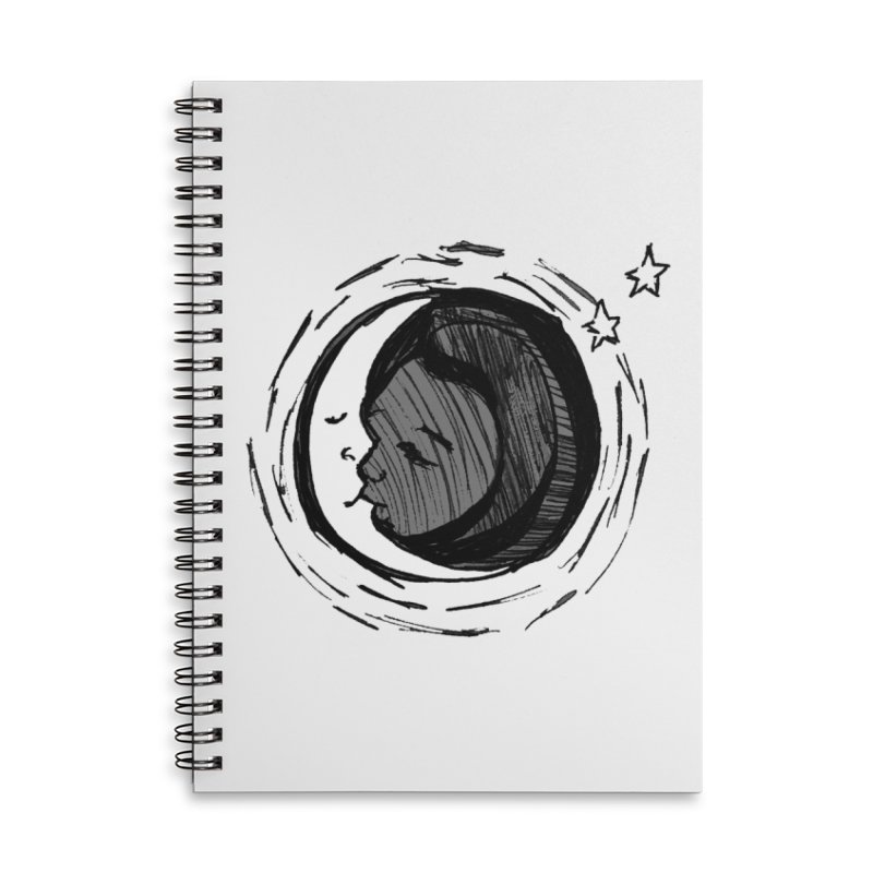 Dark Side of the Moon Accessories Lined Spiral Notebook by jackrabbithollow's Artist Shop