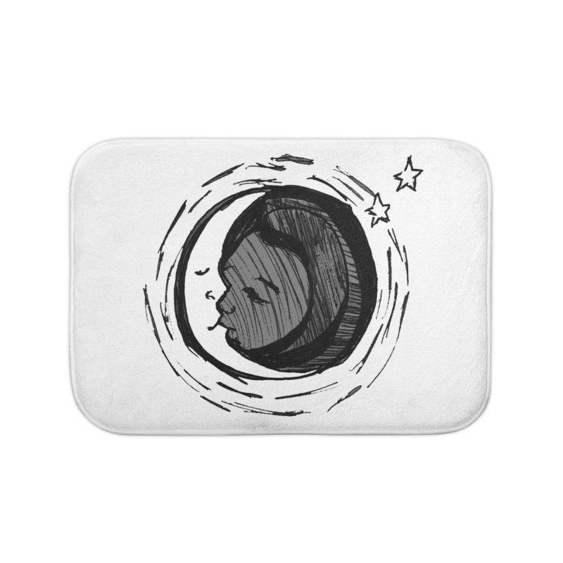 Dark Side of the Moon Home Bath Mat by jackrabbithollow's Artist Shop