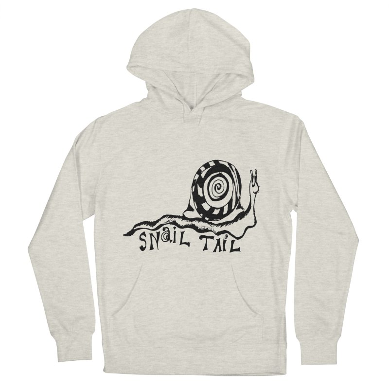 SNAIL TAIL Men's French Terry Pullover Hoody by jackrabbithollow's Artist Shop