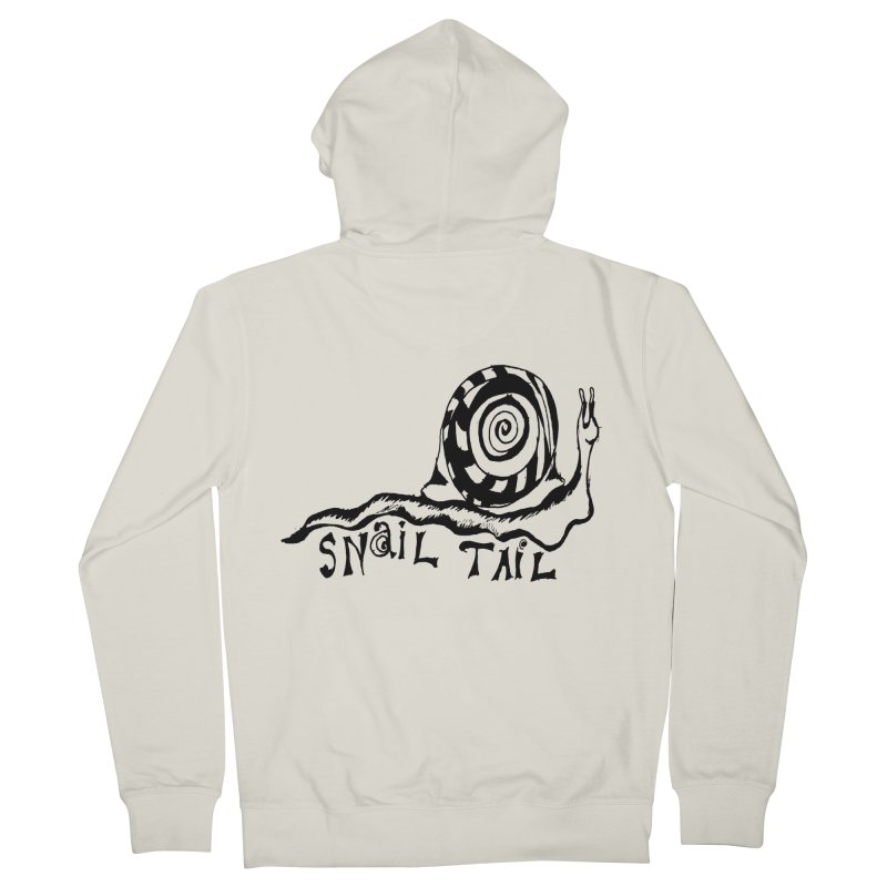 SNAIL TAIL Men's French Terry Zip-Up Hoody by jackrabbithollow's Artist Shop