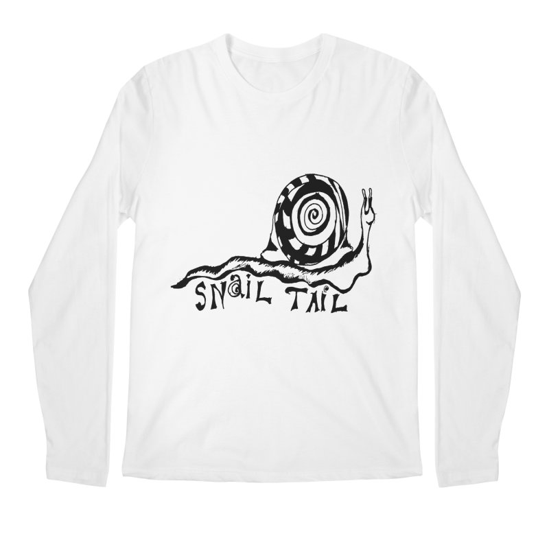 SNAIL TAIL Men's Regular Longsleeve T-Shirt by jackrabbithollow's Artist Shop