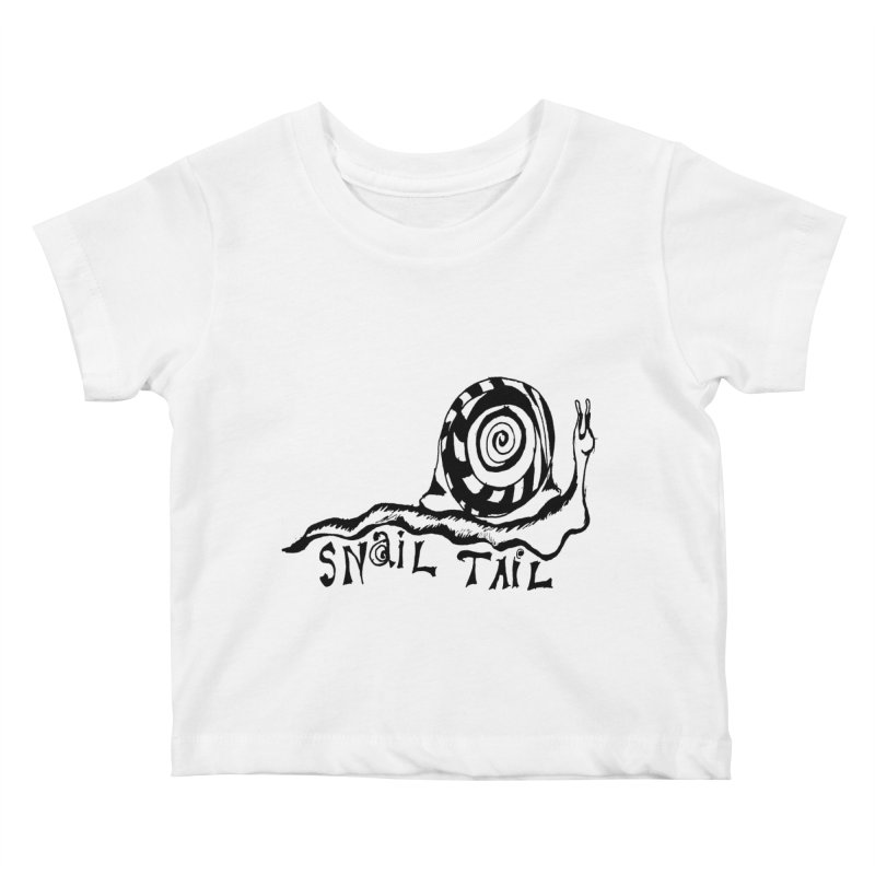 SNAIL TAIL Kids Baby T-Shirt by jackrabbithollow's Artist Shop
