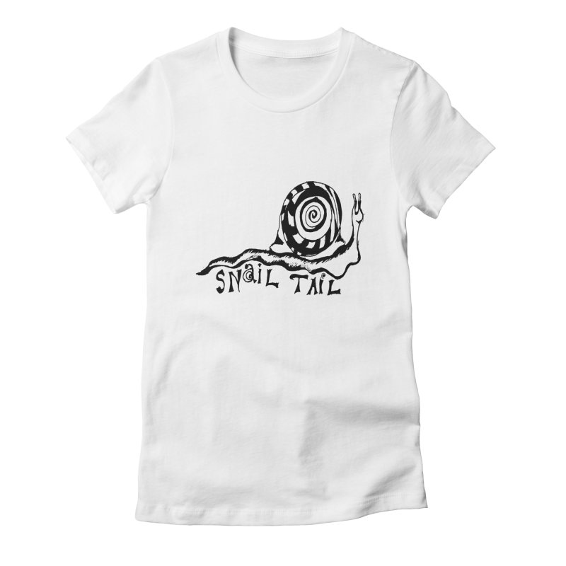 SNAIL TAIL Women's Fitted T-Shirt by jackrabbithollow's Artist Shop