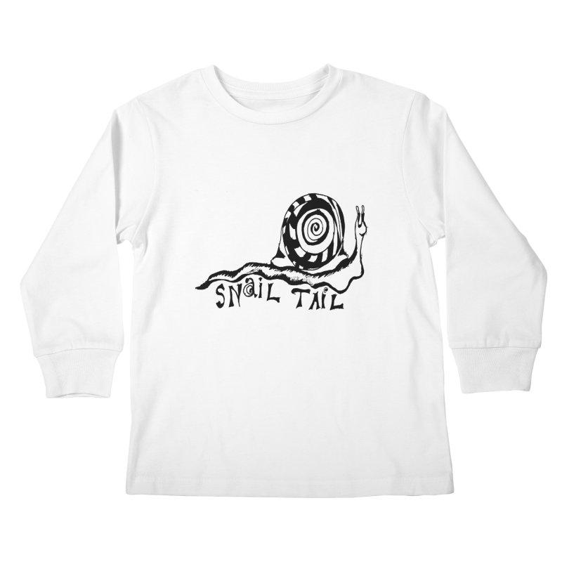 SNAIL TAIL Kids Longsleeve T-Shirt by jackrabbithollow's Artist Shop