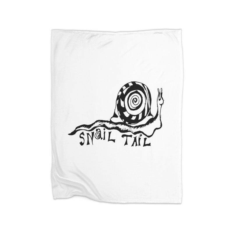 SNAIL TAIL Home Fleece Blanket Blanket by jackrabbithollow's Artist Shop
