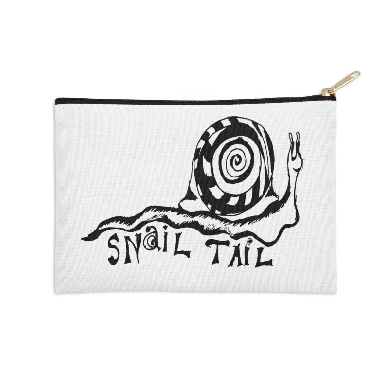 SNAIL TAIL Accessories Zip Pouch by jackrabbithollow's Artist Shop
