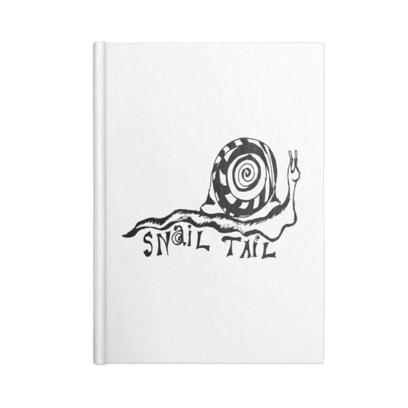 SNAIL TAIL Accessories Blank Journal Notebook by jackrabbithollow's Artist Shop
