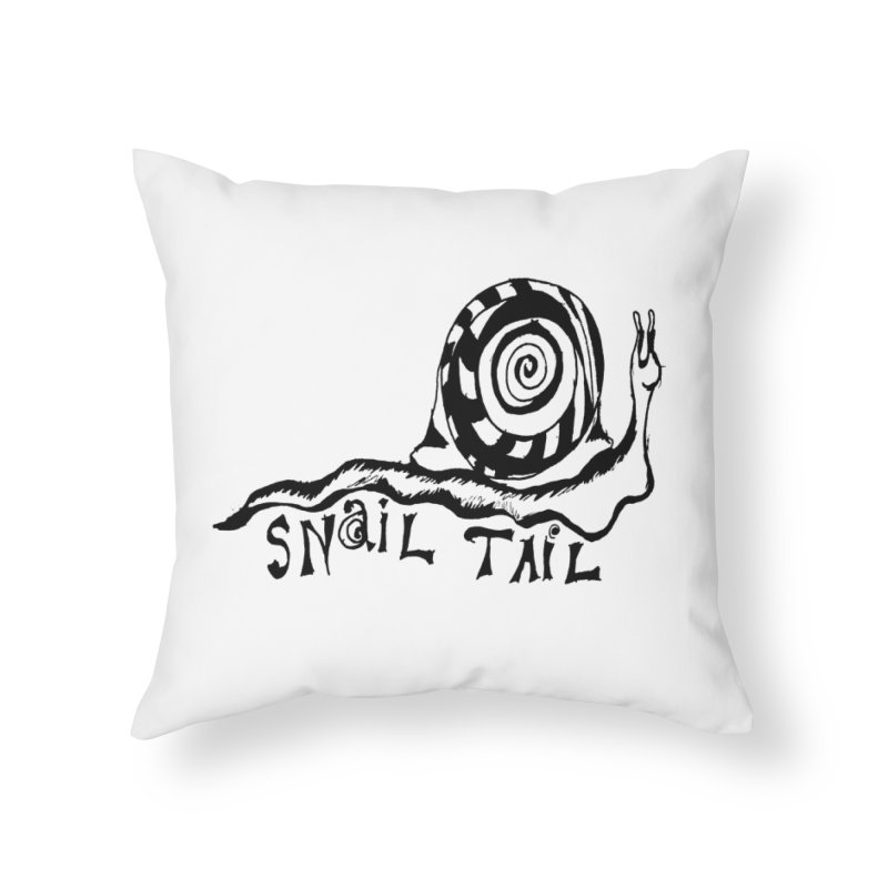SNAIL TAIL Home Throw Pillow by jackrabbithollow's Artist Shop