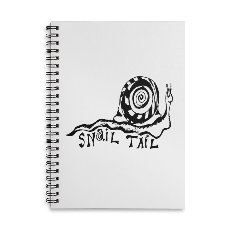SNAIL TAIL Accessories Lined Spiral Notebook by jackrabbithollow's Artist Shop