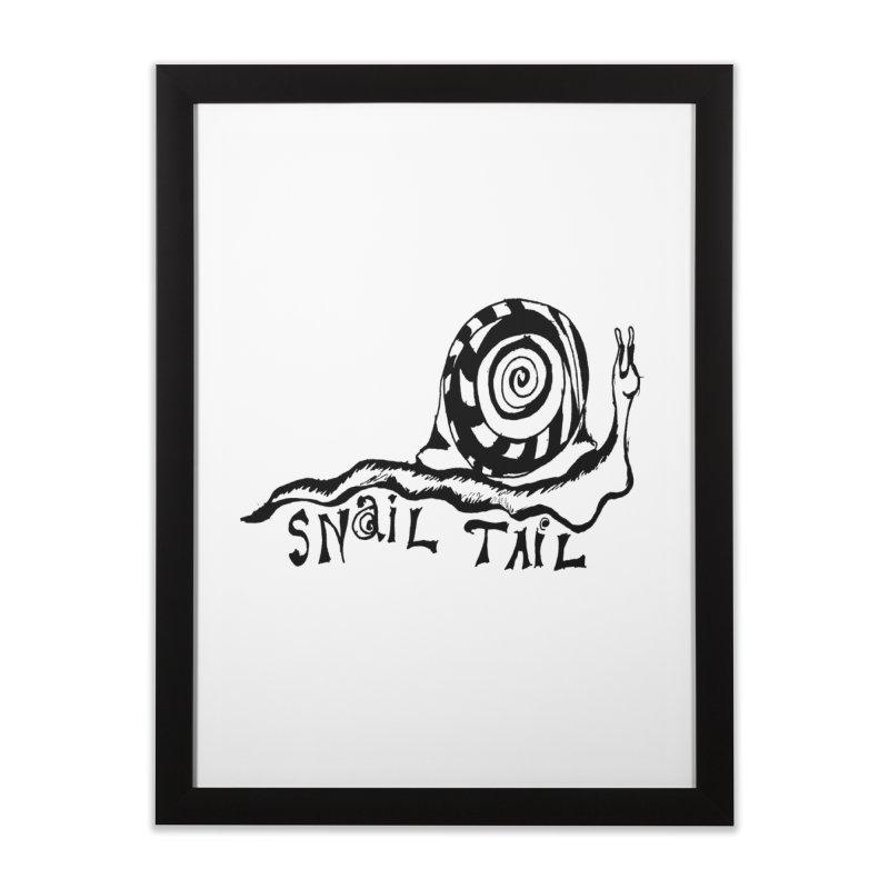 SNAIL TAIL Home Framed Fine Art Print by jackrabbithollow's Artist Shop