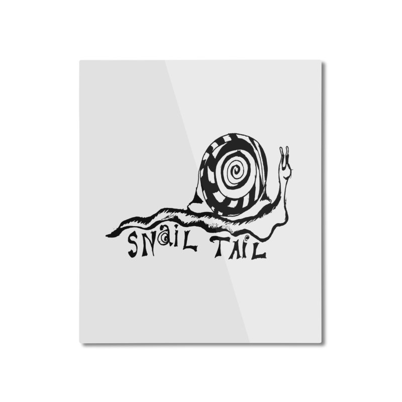 SNAIL TAIL Home Mounted Aluminum Print by jackrabbithollow's Artist Shop