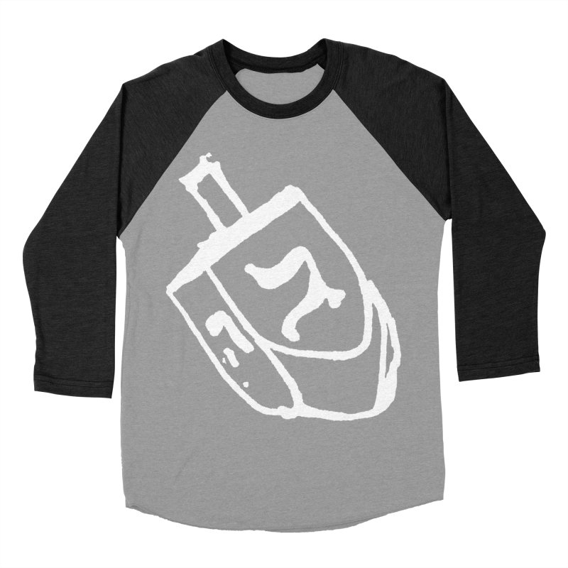 Dreidel Win Men's Baseball Triblend Longsleeve T-Shirt by jackrabbithollow's Artist Shop