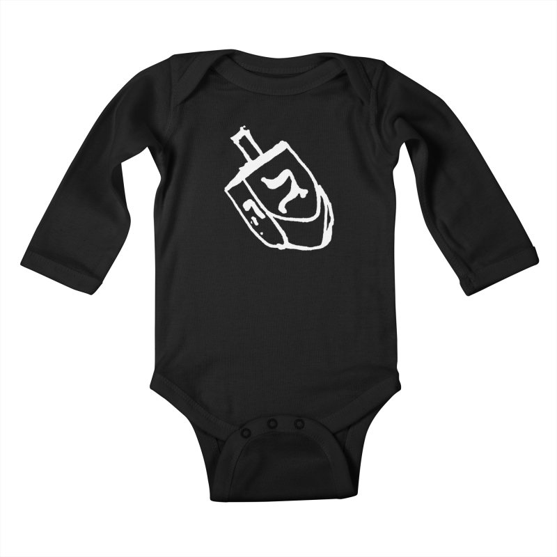 Dreidel Win Kids Baby Longsleeve Bodysuit by jackrabbithollow's Artist Shop