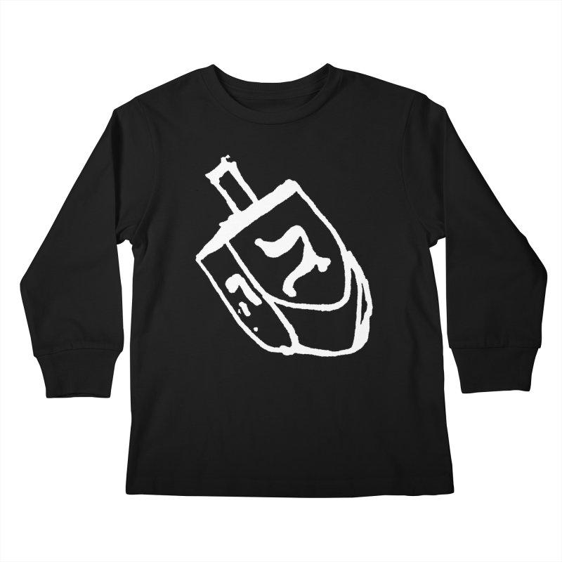 Dreidel Win Kids Longsleeve T-Shirt by jackrabbithollow's Artist Shop