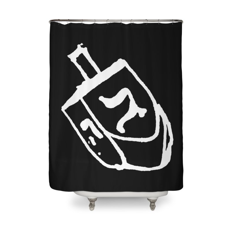 Dreidel Win Home Shower Curtain by jackrabbithollow's Artist Shop