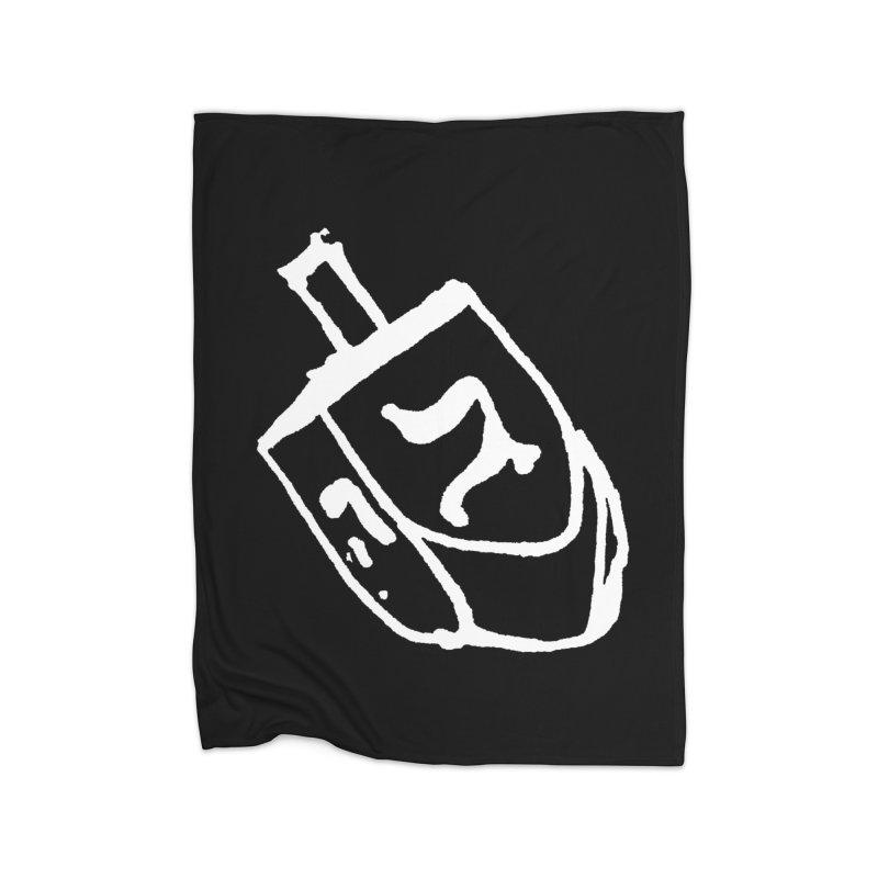 Dreidel Win Home Fleece Blanket Blanket by jackrabbithollow's Artist Shop
