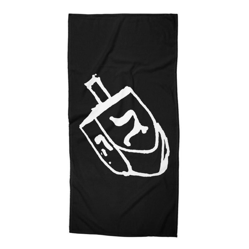 Dreidel Win Accessories Beach Towel by jackrabbithollow's Artist Shop