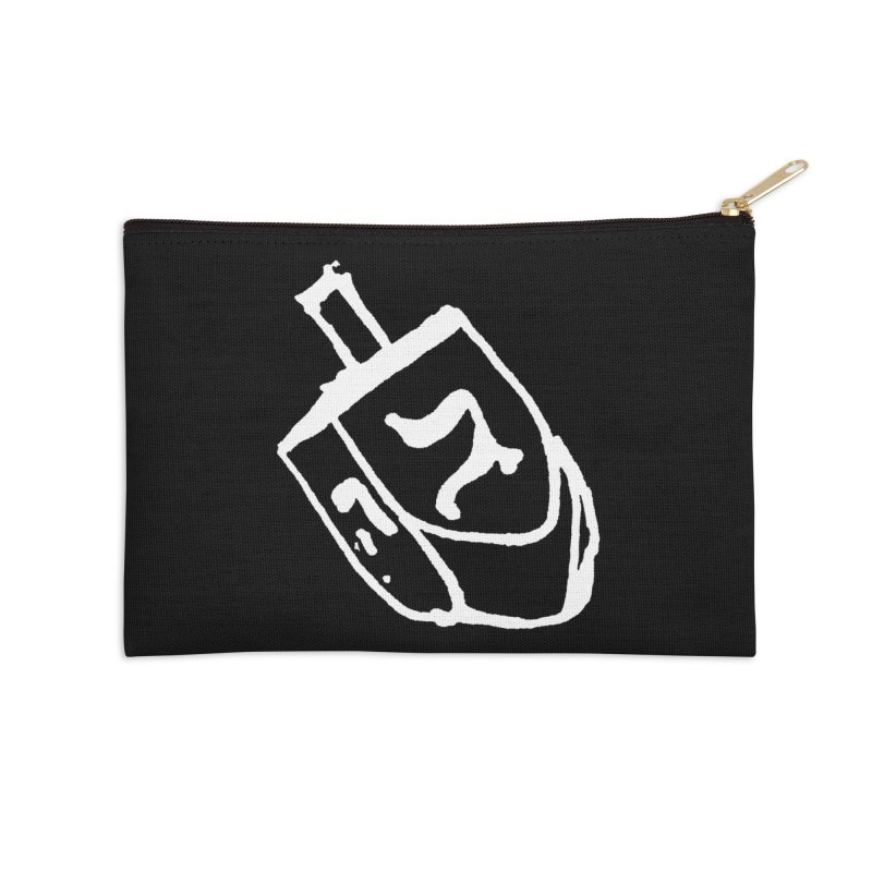 Dreidel Win Accessories Zip Pouch by jackrabbithollow's Artist Shop