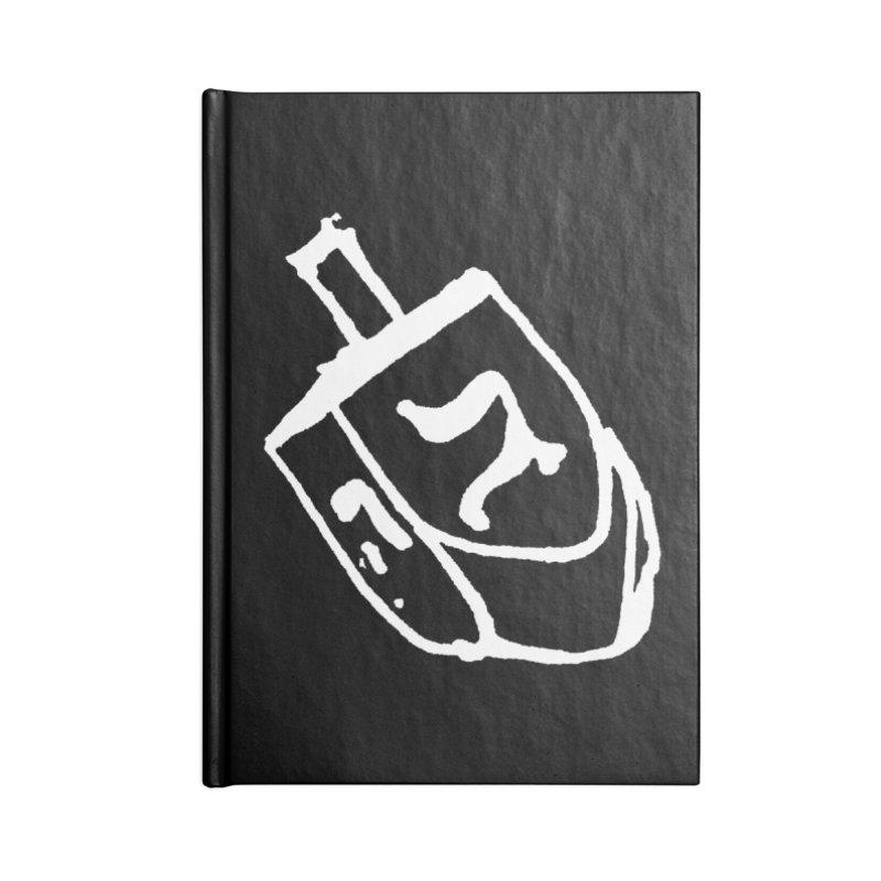 Dreidel Win Accessories Lined Journal Notebook by jackrabbithollow's Artist Shop