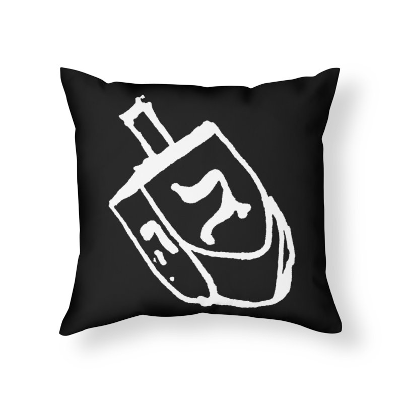 Dreidel Win Home Throw Pillow by jackrabbithollow's Artist Shop